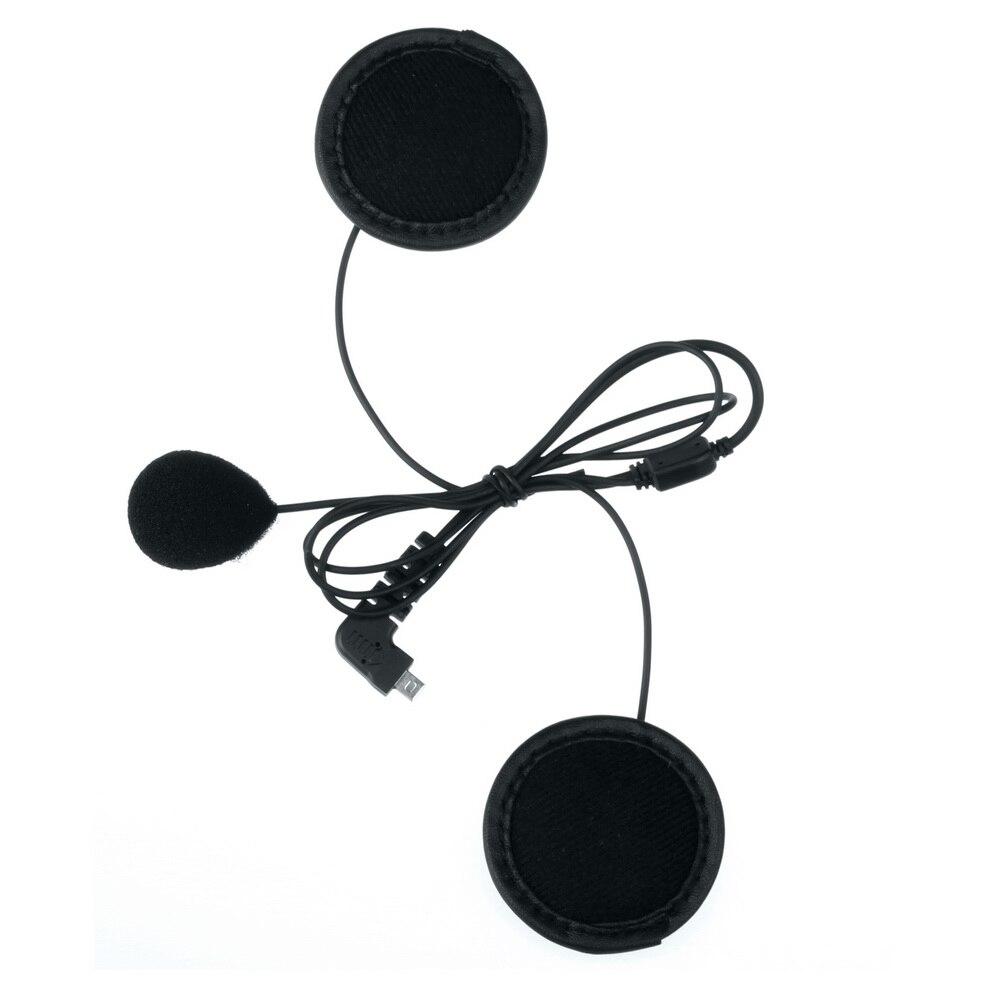 1 pc macio fone de ouvido & microfone para BT-S2 BT-S3 moto capacete bluetooth intercom acessórios para rosto cheio perto capacete