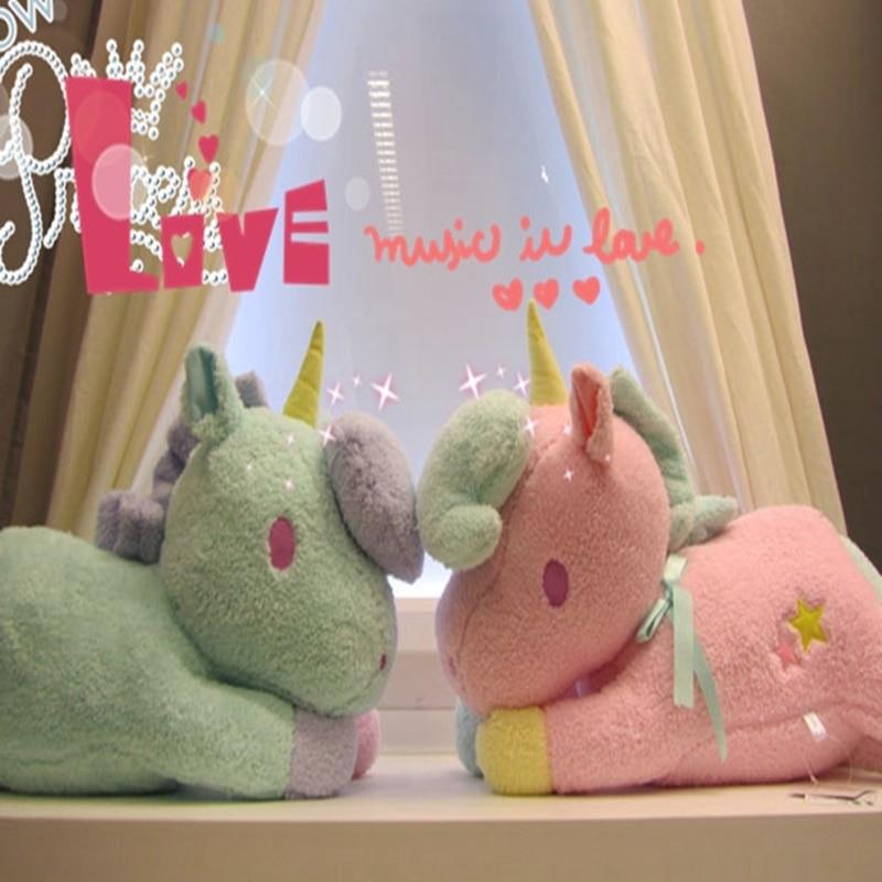 ФОТО 1pc 25cm my little horse unicorn doll fresh plush unicorn horse stuffed animals toys rainbow dash little twin stars dolls d057