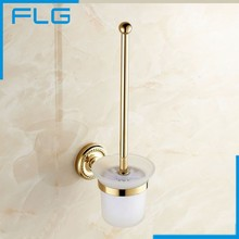Newly US Antique Bronze Bathroom Cleaning Toilet Brush Holder Solid Brass Base Glass Cup Dull Polish Wall Mount high quality solid brass bathroom shelf glass holder bathroom accesssories antique brass wall mount