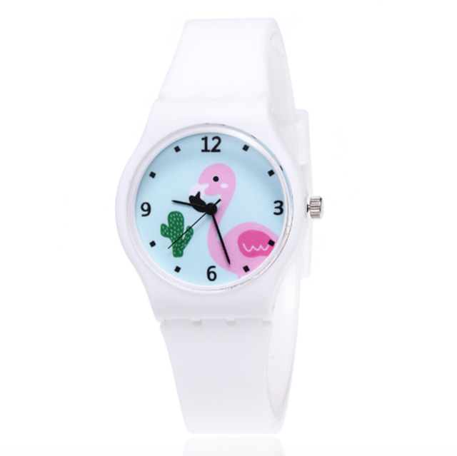 Silicone Candy Jelly Color Student Watch Girls Clock Fashion Flamingo Watches Ch
