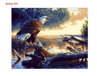DIY Framless Wall Pictures Painting By Numbers Eagle Call Digital Modern Oil Painting On Canvas By