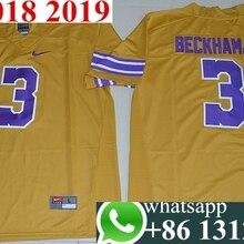 63315cfbf08bb2 Hot 2016 LSU Tigers Odell Beckham Jr. 3 hot sale Limited Throwback Legand -  Gridiron Gold Size S Jersey