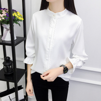 Blusinhas Femininas 2018 Spring Autumn Women Long Sleeve Blouse Plus Size Office Shirts Elegant Ladies Ruffles