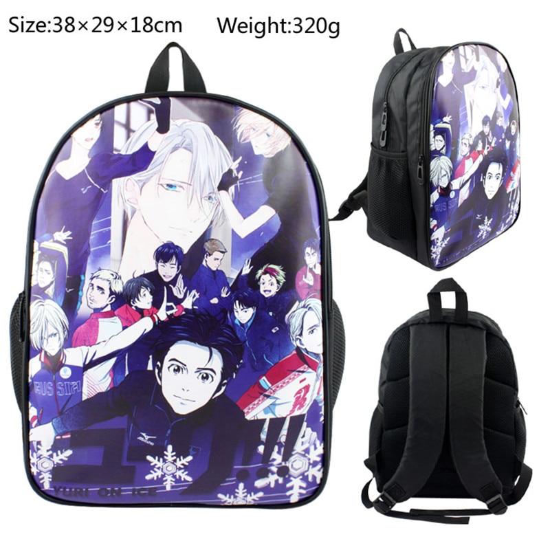 11 inch Japan Anime Yuri On Ice Fancy Skate Printed Bag Boys Girls Kids Children School Book Bag Rucksack Gift