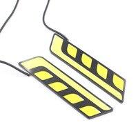 2pcs Lot Newest Waterproof White Yellow Car Head Light COB LED Daytime Running Lights DRL Fog