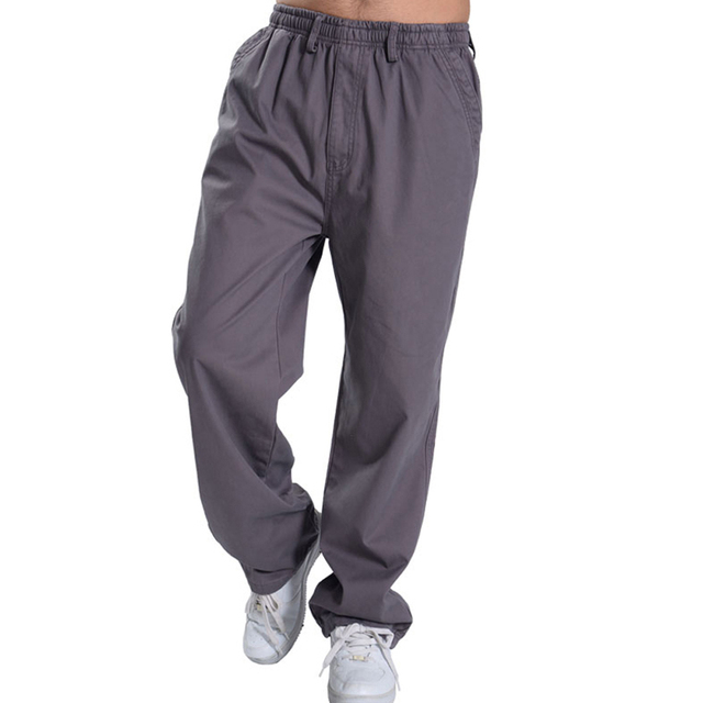bca910bd125805 2018 High Quality Mens Joggers Solid Baggy Casual male Jogger Pants open  air Sweatpants Men Trousers Pantalon Homme 5XL 6XL 828