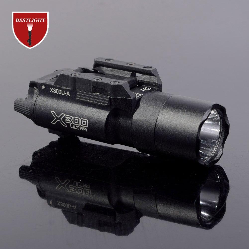 Тактический фонарь для пистолета SF X300 Ultra X300U, 500 люмен, высокая производительность, фонасветильник для Пикатинни 20 мм, планка Вивера