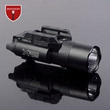 Tático sf x300 ultra pistola arma de luz x300u 500 lumens alta saída arma lanterna caber 20mm picatinny weaver ferroviário