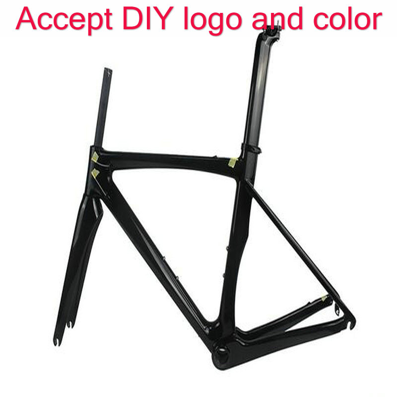 2 year warranty made in China OEM  logo  and color road bike frameset T1100(China)