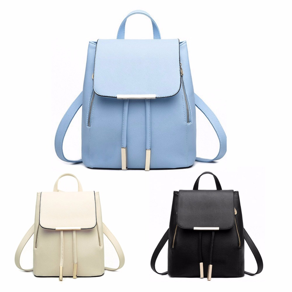 dc6882f616137 Black School Supplies Backpack Female PU Leather Backpack Japanese Street Bag  Women s School Bag for Adolescent Girls Backpacks-in Backpacks from Luggage  ...