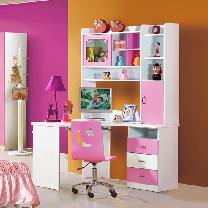 Children 39 s furniture study table teen girl right angle corner desk combination bookcase desktop - Amazing teenage girl desks ...