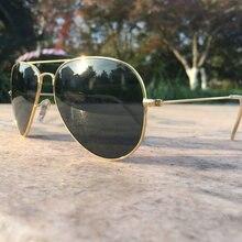 Reggaeon Vidrio de Marca lente gafas de sol de las mujeres de alta calidad 2020 UV400 conducción de los hombres piloto gafas de sol 3025 rayeds Color oro negro