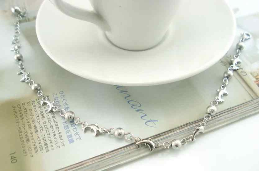 OTOKY 高品質デザインのファッショナブルイルカマットビーズ女性チェーンアンクレットブレスレットサンダルビーチフットジュエリー Jul25