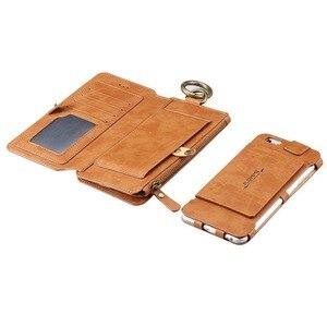 Image 2 - Etui na telefon dla iphone 11 Pro Max Xs xr 5 c 6 s se 2020 7 8 Plus wiszące talii coque skórzany portfel telefon powłoki pokrywy torba