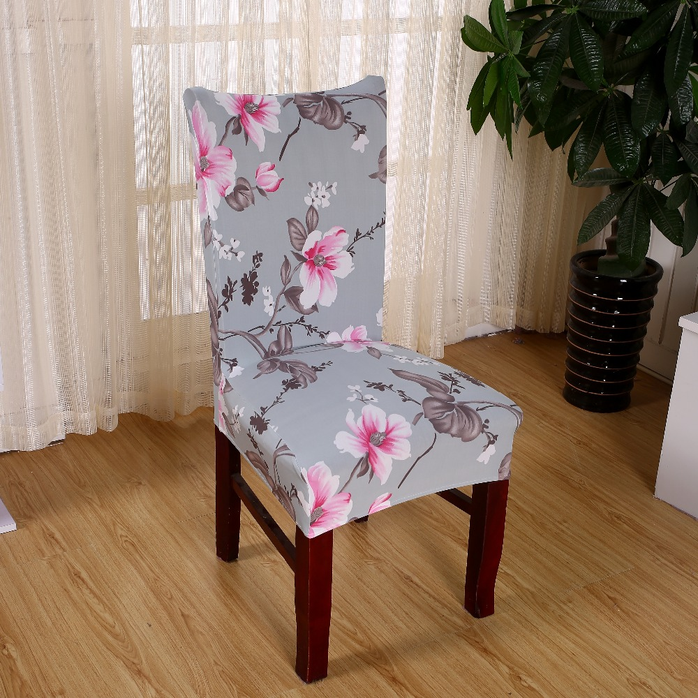 Chair Covers Spandex Printed Elasticity Chair Cover