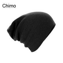 2016 Fashion Women Winter Knitted Cap Casual Beanies For Men Solid Color Hip-hop Slouch Skullies Unisex Cap Hat 500PCS/lot