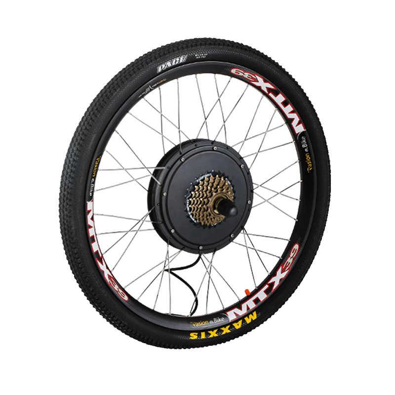 48V 1500W Electric Bike Kit 7-Speed Motor Wheel e Bike Conversion Kit 1500W for 20 24 26 700C 28 29inch Electric Wheel Motor Kit