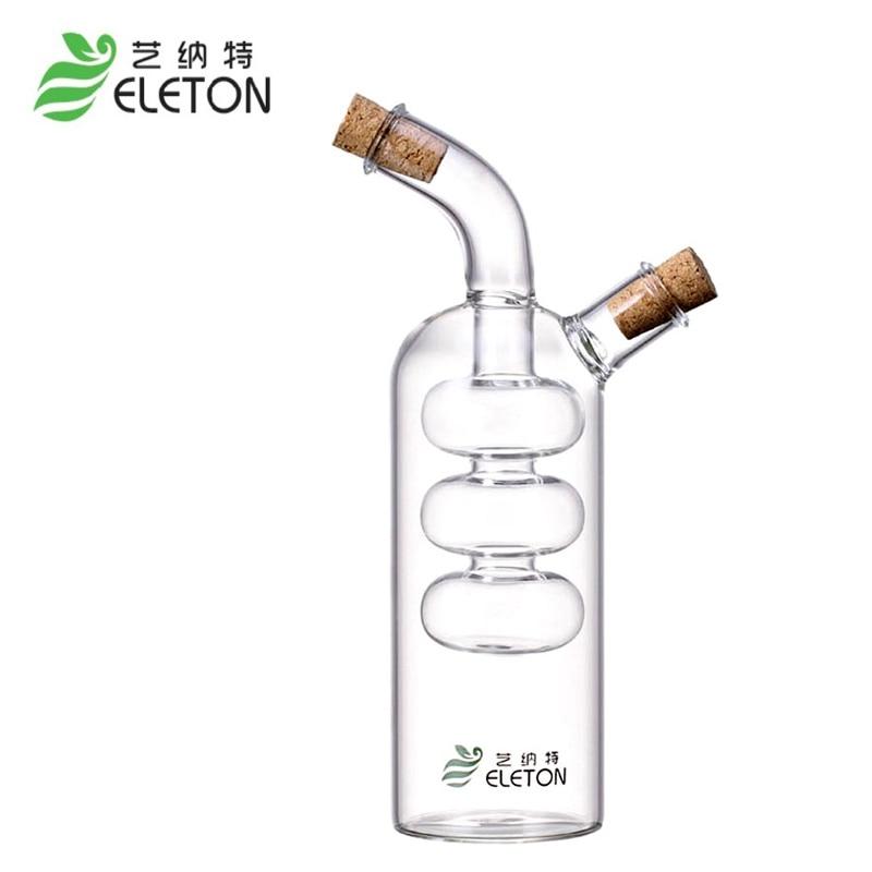 ELETON Kitchen Seasoning Bottle Green Glass Oiler aceite de fuga de - Cocina, comedor y bar