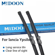 MIDOON Wiper Blades for lancia Ypsilon Fit Hook / Push Button Arms Model Year from 2003 to 2018(China)
