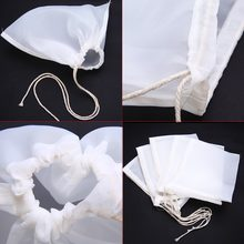 5pcs/lot Mesh Nylon Strainer Filter Bag Nylon Mesh Net Strain for Nut Milk Hops Tea Brewing Home Wine Beer Making Bar Tools(China)