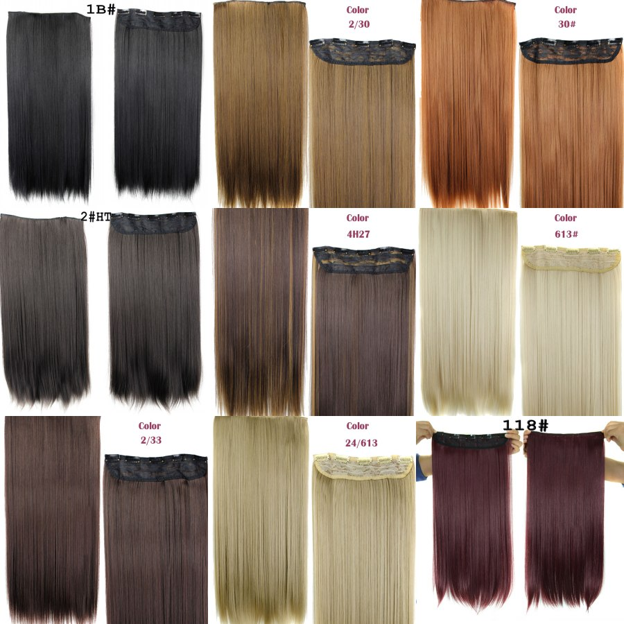Rockstar wigs 16colors 24inches long straight 5 clips in hair rockstar wigs 16colors 24inches long straight 5 clips in hair extensions black brown synthetic hair clip in hairpiece in clip in one piece from hair pmusecretfo Images