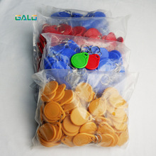 100pcs/ Lot 13.56 MHZ RFID IC Card Token Tags Key Keyfobs for Access Control Entrance Mechine недорого