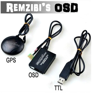 FPV Remzibi Poor Man's OSD + GPS, APM/MWC/ARKBIRD/Rabbit/Pirate TTL Cable Module fpv s2 osd barometer version osd board read naza data phantom 2 iosd osd barometer with 8m gps module