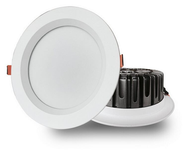 15W Dimmable COB LED Downlight Round recessed smd lamp for bathroom kitchen 100V-240V 2800-6000K Free Shipping dhl ship 18w surface mounted led downlight round panel light smd ultra thin circle ceiling down lamp kitchen bathroom lamp