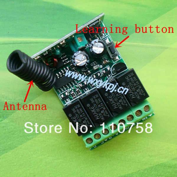 Dc12v 4ch البسيطة حجم التعلم قانون الترددات 315mhz. 433 ميجا هرتز ضوء التبديل التلقائي كونترول عن
