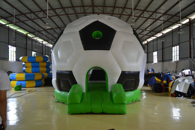 inflatable football bouncer