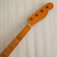 Yellow 4 string Maple 20 Fret Neck For Electric TL Bass Guitar Neck Replacment