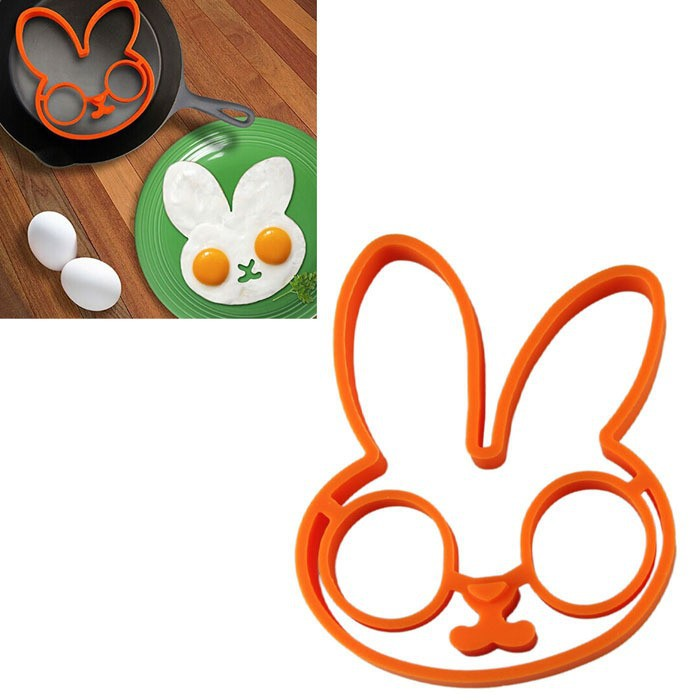 1Pcs Rabbit Owl Skull 3Types Silicone Egg Mold Ring Cooking Tools ...