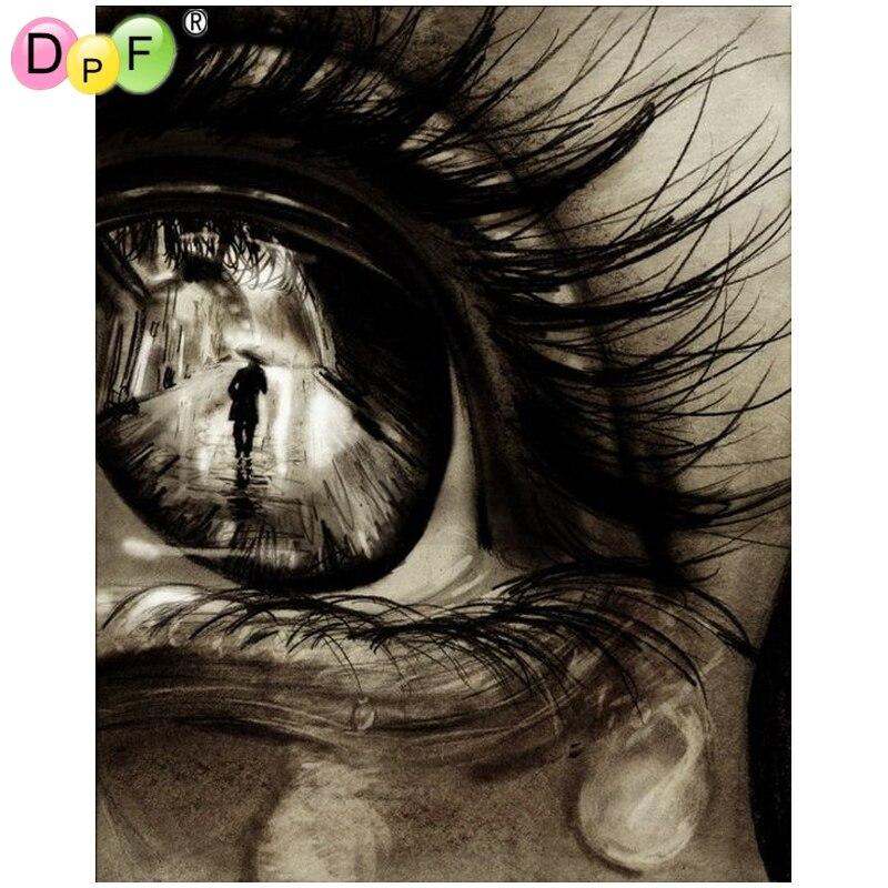 DPF diamond embroidery Eyes of the characters diamond painting cros stitch crafts diamond mosaic square rhinestone home decor