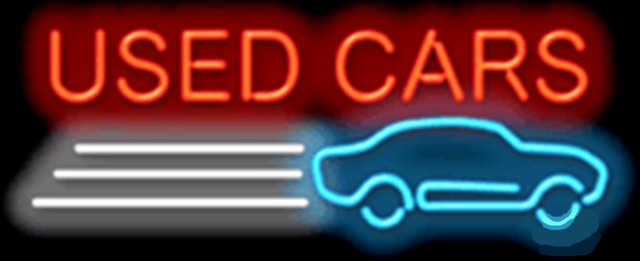 Used Cars Auto Garage Car Tube Neon Sign Beer Club