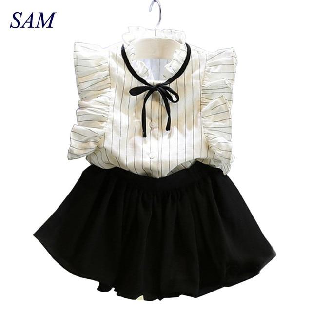 6a20cebf21 2019 Coreano Moda Infantil Verão Criança roupas de Bebê Menina Bonita  Princesa T-Shirt +