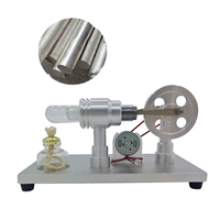 NFSTRIKE Model Building Kits Metal Baseboard Double cylinder Micro DIY Stirling Engine External Combustion Engine Model for Kids