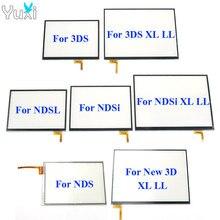 YuXi ekran dotykowy digitizer szkło na wyświetlacz zamiennik panelu dotykowego dla Nintendo DS Lite dla NDSL NDSi XL dla nowego 3DS XL