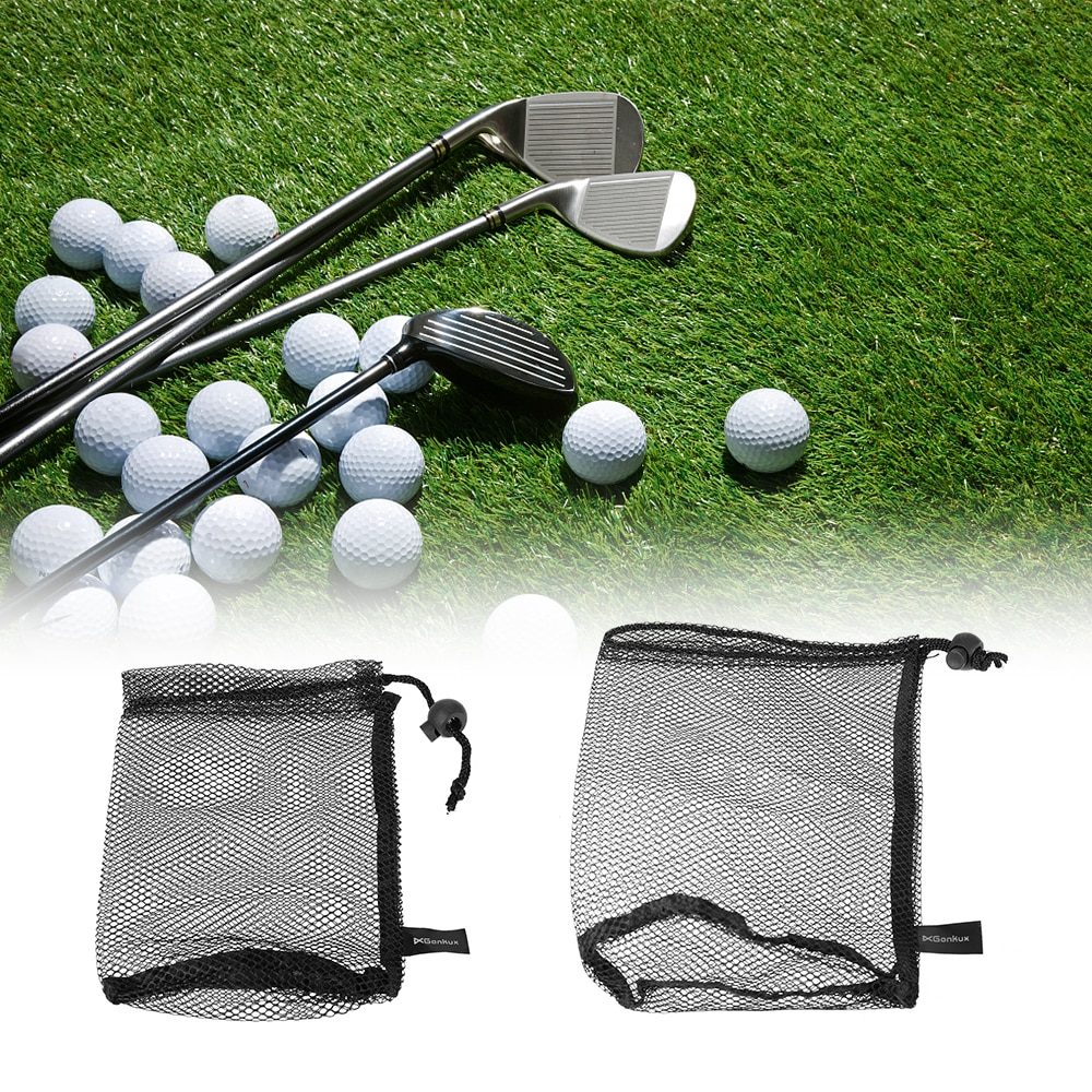 Image 2 - Nylon Golf Balls Bag Drawstring Mesh Net Bag Golf Balls Holder Outdoor Sports Mesh Nets Table Tennis Carrying Holder Storage Bag-in Golf Balls from Sports & Entertainment