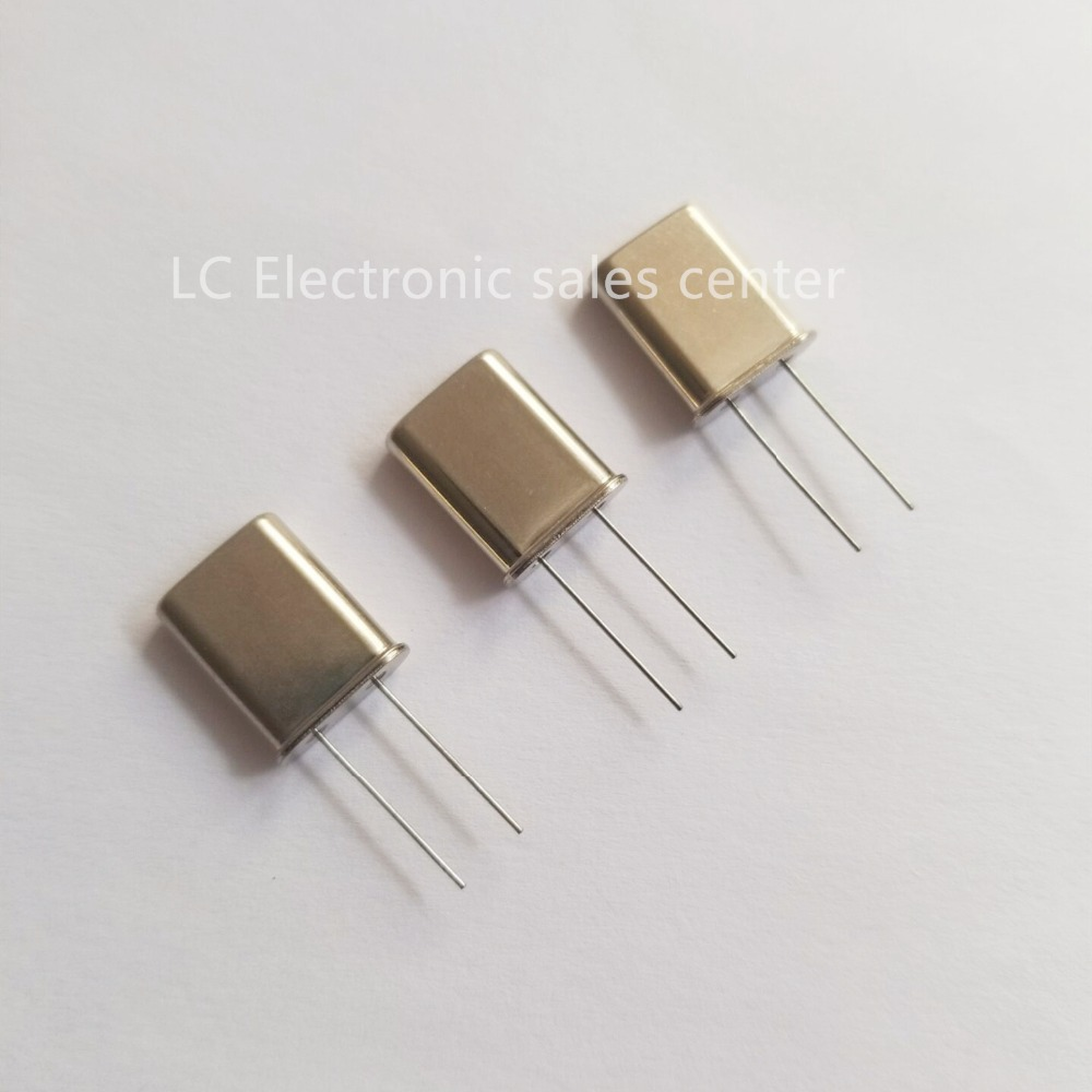 10pcs 5MHZ 49U In-line Passive Crystal Quartz Crystal 2P Type 5M 5.000MHZ Resonator