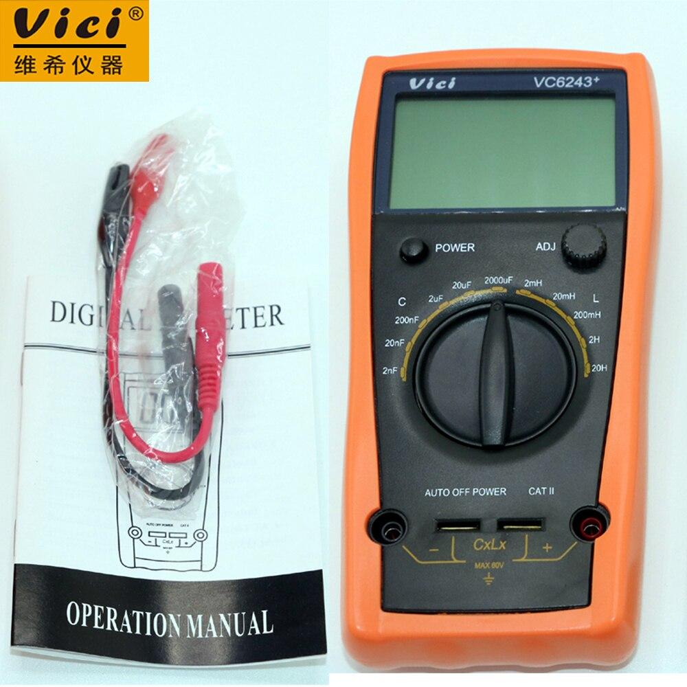 где купить  VICI VC6243+ LC Meter Inductance Capacitance Digital high-precision atuo power off  по лучшей цене