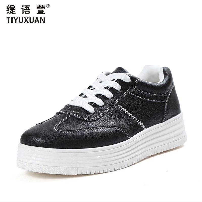 Moda pequeños zapatos blancos muchachas nueva plataforma plana zapatos de las mu