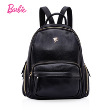 Барби Рюкзак Женщин Черный Искусственная кожа Модные сладкий женская сумка с большой Ёмкость в простом стиле студент мешок
