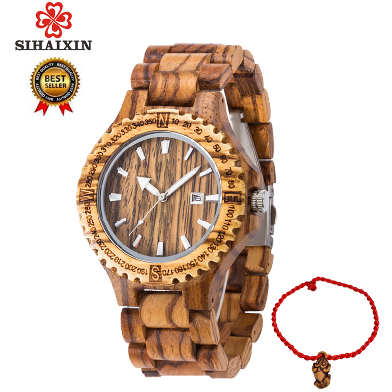 SIHAIXIN Man Wood Watch Men Date Luxury Brand Sport Male Full Nature Bamboo Wooden Band Male Clock Minimalist Man Watches GiftSIHAIXIN Man Wood Watch Men Date Luxury Brand Sport Male Full Nature Bamboo Wooden Band Male Clock Minimalist Man Watches Gift