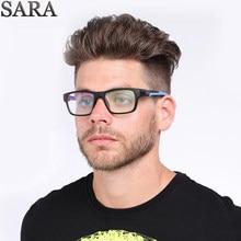 97d9c241a58ea4 SARA Marque 2018 Nouvelles lunettes cadre Sport Anti-bleu Objectif lunettes  cadres hommes Femmes En