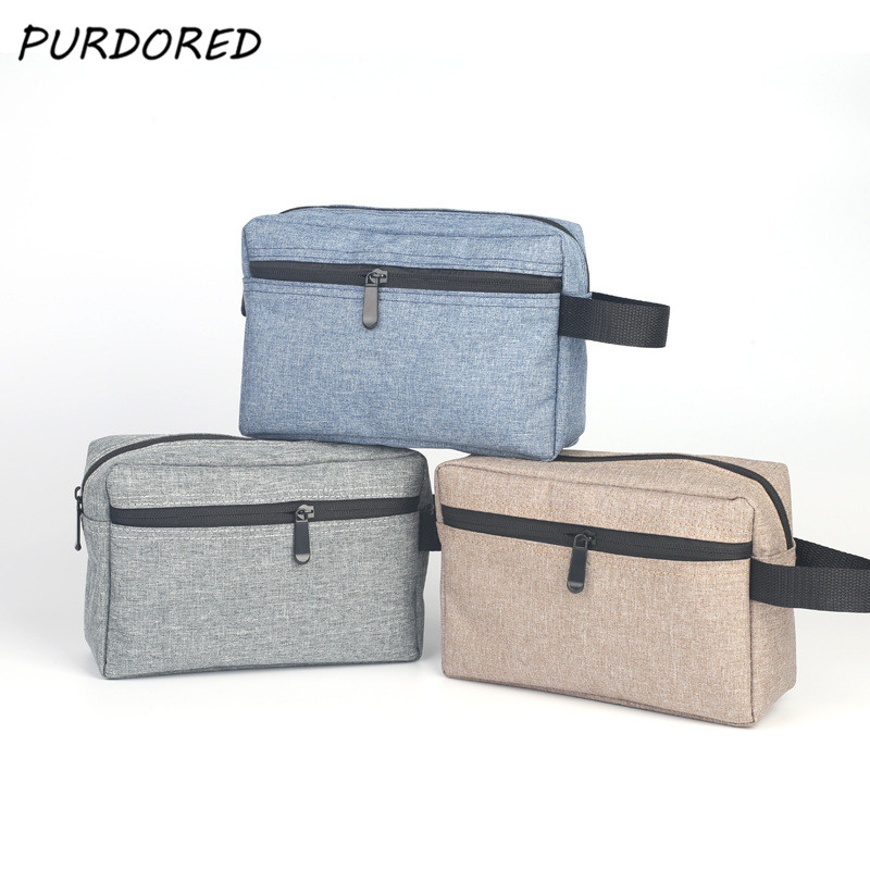 PURDORED 1 Pc Travel Men Wash Bag Waterproof Makeup Bag Toiletry Wash Kit Storage Pouch For Women Cosmetic Bag  Dropshipping