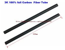 2pcs Black Carbon Fiber Tube 12mm x10mm 3K Glossy Surface 500mm Long For RC Airplane Multicopter Arm DIY