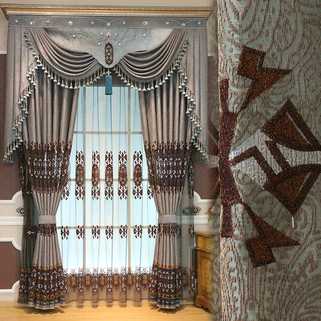 Comprar vintage europea jacquard cortinas for Cortinas elegantes para sala