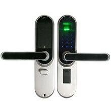 Biométrico de Huellas Dactilares Cerradura Electrónica Inteligente, código, Pantalla Táctil tecla de Bloqueo de Contraseña Digital SL17013MB