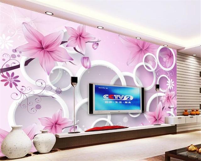 beibehang 3D photo wallpaper fantastic flower murals bedroom living ...