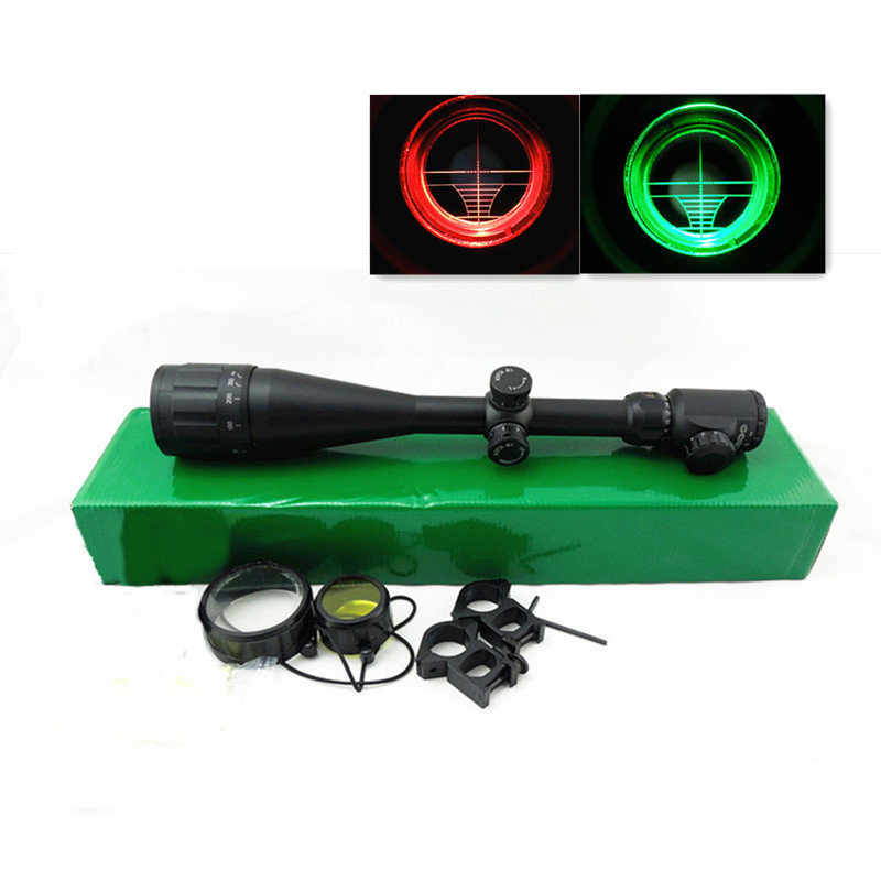 Free Tactical Riflescope 6-24x50 EG Crosshair Mil-Dot R&G Illuminated Rifle Scope Airsoft Gun Optics Scopes For Hunting